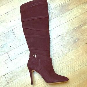 Guess , deep burgundy , suede boot